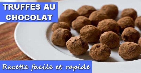 Recette Truffes Au Chocolat Maigrir Vite Et Bien