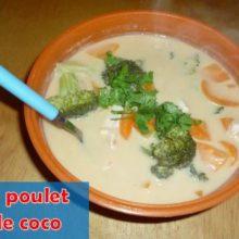 recette soupe poulet lait coco